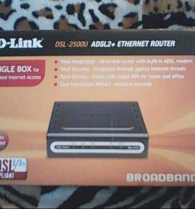 D-LINK DSL-2500U ADSL2+Интернет роутер