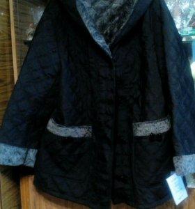Куртка с капишоном для пышной дамы р.62