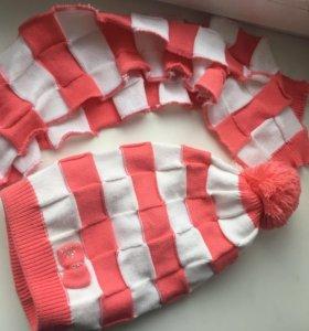 Шапка женская зимняя + шарф