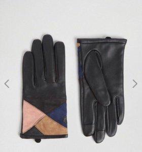 Перчатки из кожи и замши новые размер s Asos