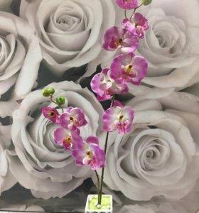 Орхидея в керамическом кашпо иск.