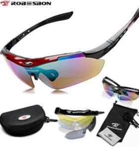 Спортивные очки, 5 сменных линз, полный комплект