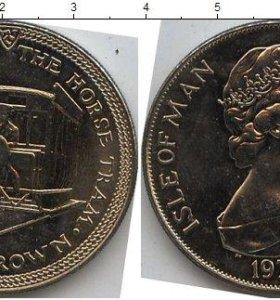 Монета 1 крона острова Мен Великобритания.