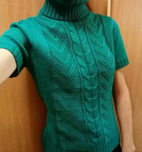 Новый свитер с короткими рукавами, приятный к телу