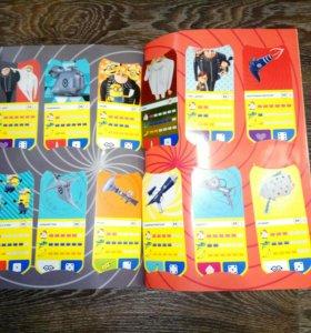 Карточки Миньоны в журнале