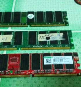 3 планки оперативной памяти ддр1 512 мб 1 штука