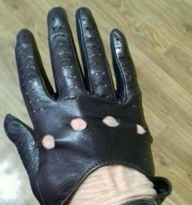 Перчатки лайковые осенние