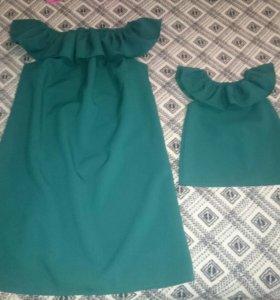Платье мама+ дочь, 42, 1-2 год