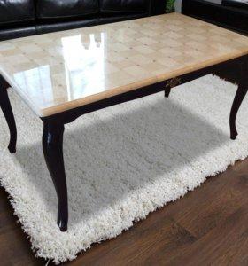Мозаичный стол из натурального мрамора