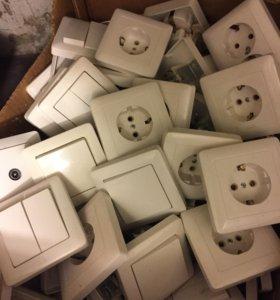 Розетки,выключатели. все новые!