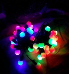 Гирлянда светодиодная шарики