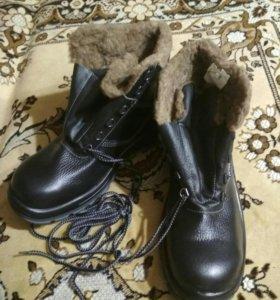 Ботинки кожаные,рабочие.