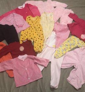 Одежда пакетом на девочку (62-68)
