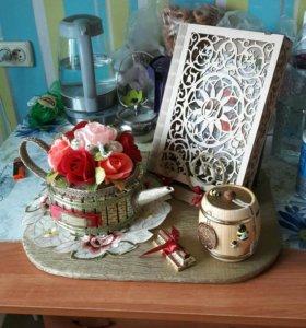 чайник из конфет с чаем внутри на заказ