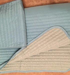 Покрывало и чехол на подушку Икеа+подушка