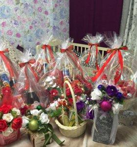 Новогодние подарки с конфетами