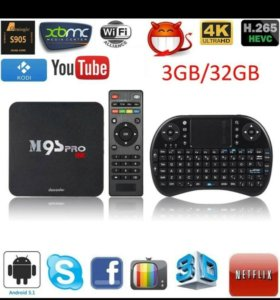 M9S Pro  3/32 ГБ android tv box