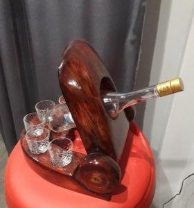 Сувенирная пушка из дерева