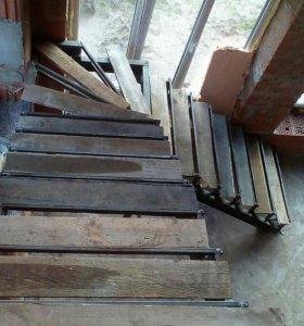 Металлокаркасы лестниц любой сложности