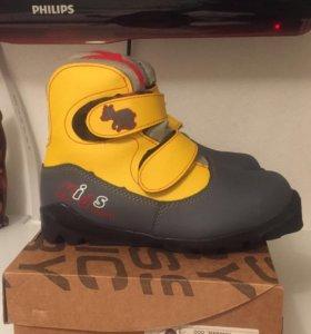 Ботинки лыжные на липучках