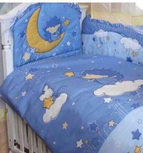 Мягкие бортики на детскую кроватку