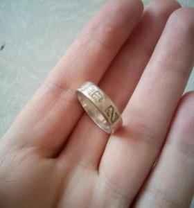 Кольцо серебряное 17мм
