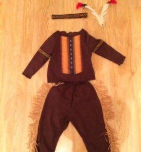Маскарадный костюм индейца, детский.