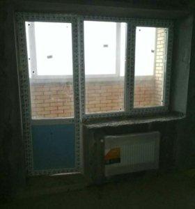 Балконная рама со стеклопакетом.Новая.