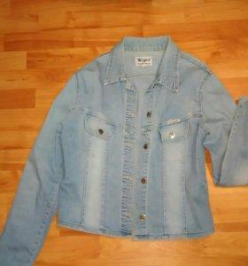 Джинсовая куртка, рубашка
