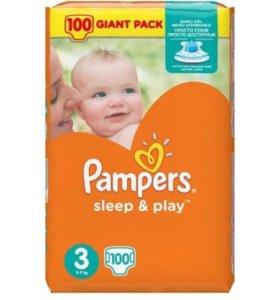 Pampers Sleep&Play 3 100шт