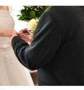Свадебное платье 44 размер +фата в подарок