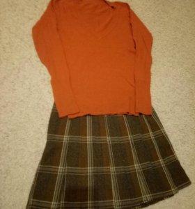 Юбка+кофта+блузка