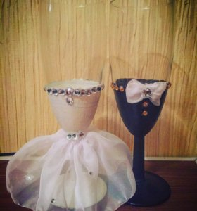 Фужеры свадебные / бокалы