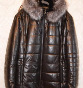 Кожаная куртка/кожаный пуховик