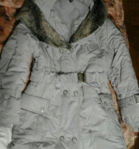 Зимнее пальто рост 140