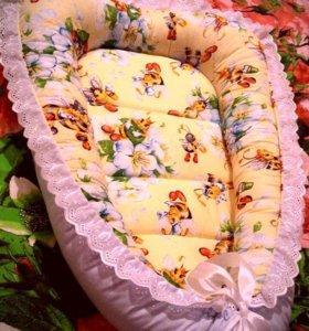 Гнездышко-кокон для малыша, одеялки на выписку