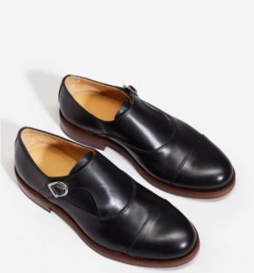 Кожаные туфли-монки