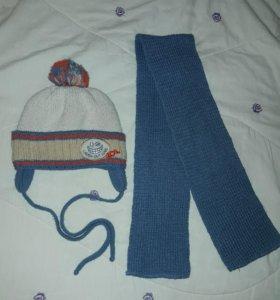 Зимняя шапочка с шарфом.