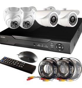 Комплект внутреннего и уличного видео наблюдения