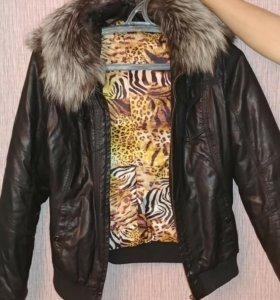 Женская кожаная куртка 44-46