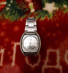 Часы касио оригинал двойной циферблат торг реально