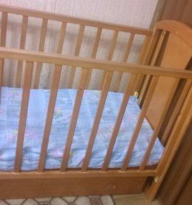 кроватка с коробом