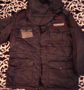 Костюм зимний полиция (бушлат, ватники), рубашка