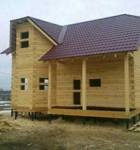 Готовые дома из бруса.Костромской лес!