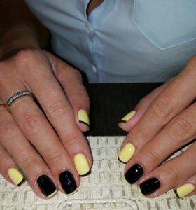 Наращивание ногтей и покрытие шеллаком