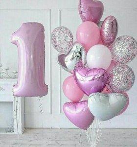 Стильные воздушные шарики