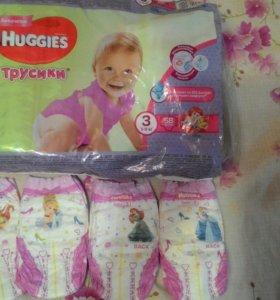 Подгузники-трусики Huggies 3(7-11 кг) для девочек