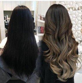 Окрашивание волос модными техниками!