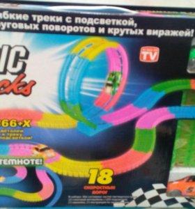MAGIC TRACKS 366деталей и 2 машинки (Новинка!!!)