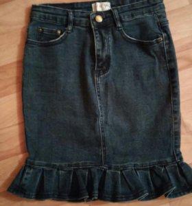 Джинсовка юбка